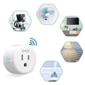 The Gosund smart outlets allow you to connect electrical devices to your Smart Home Alexa System.