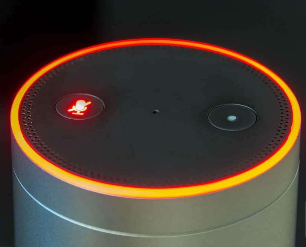 Alexa Echo Turns Orange to initialize setup process.