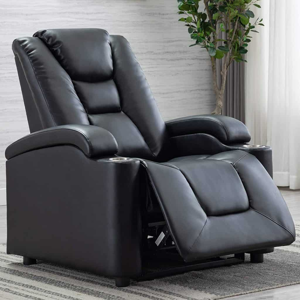 ANJ Powered Leather Recliners are a bit pricier, but go great in any media room.