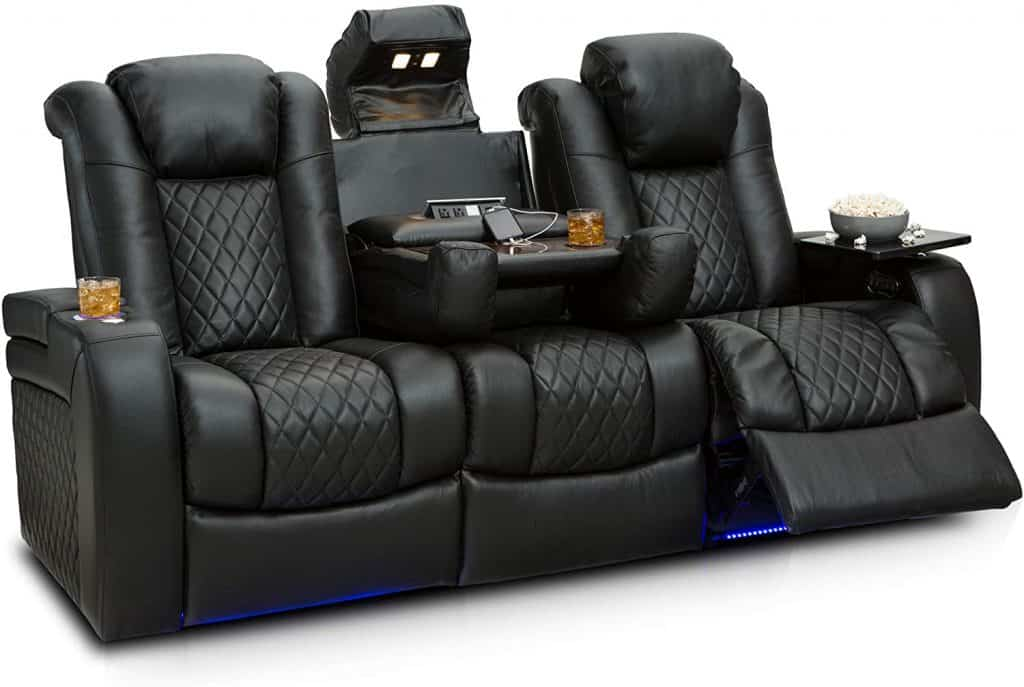 Seating options available for a small room home theater and media room