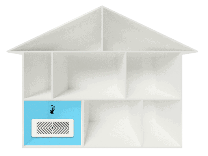 Use the smart vent in just one room