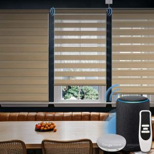 Graywind makes great electric blinds and shades.