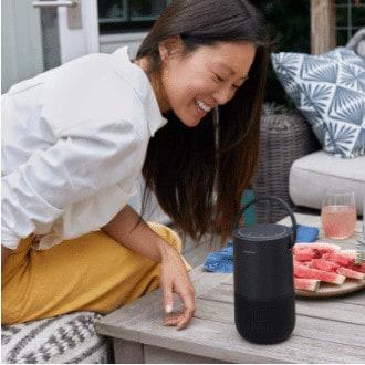 Bose's Portable Smart Speaker is Alexa enabled.
