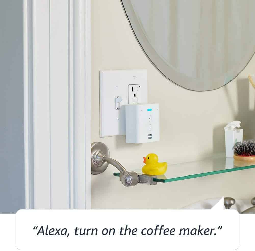 With the Echo Flex, Alexa can fit just about anywhere.